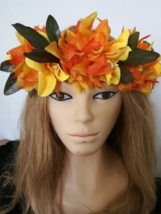 Couronne Bougainvillier orange